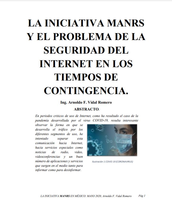 La iniciativa MANRS y el problema de la seguridad del internet en los tiempos de contingencia
